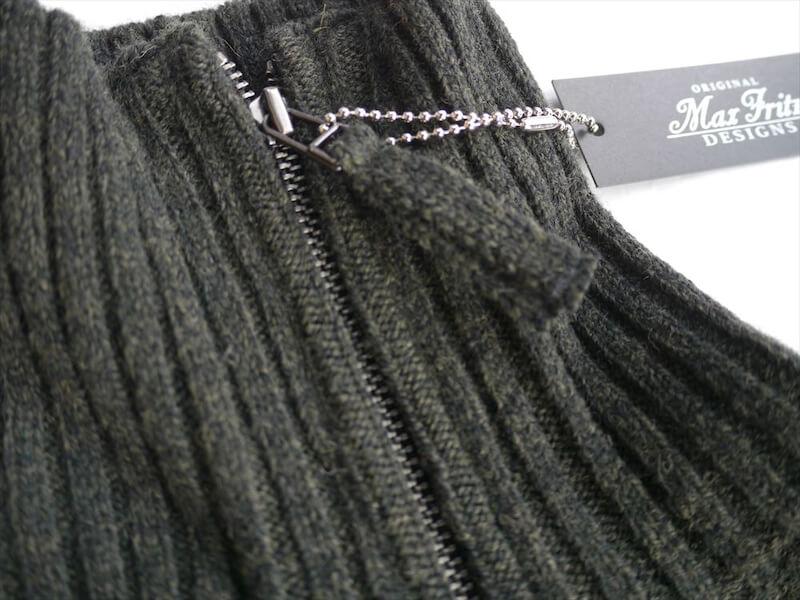 モスステッチボーダーセーター