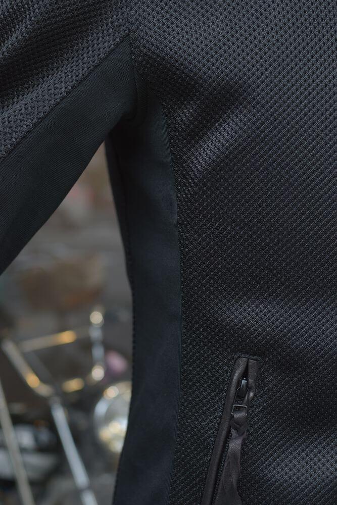 マックスフリッツ MFS-2243 レザーパイピングフルメッシュジャケット