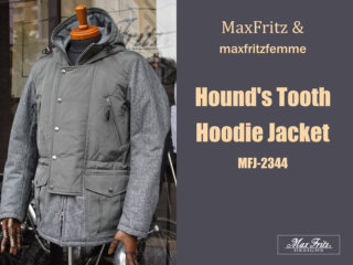 マックスフリッツ MFJ-2344 ハウンドトゥースフーディージャケット