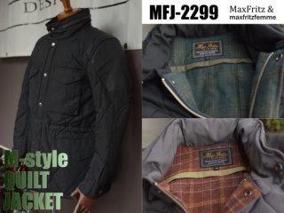 マックスフリッツ MFJ-2299 Mスタイルキルトジャケット